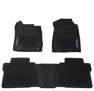 Fits Tundra Crew Max 14 18 Floor Mat Black Rubber ALL Weather Liners Genuine OEM