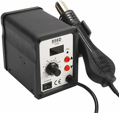 858d Rework Station Iron Desoldering Hot Air Gun Soldering Station With 3 Nozzle