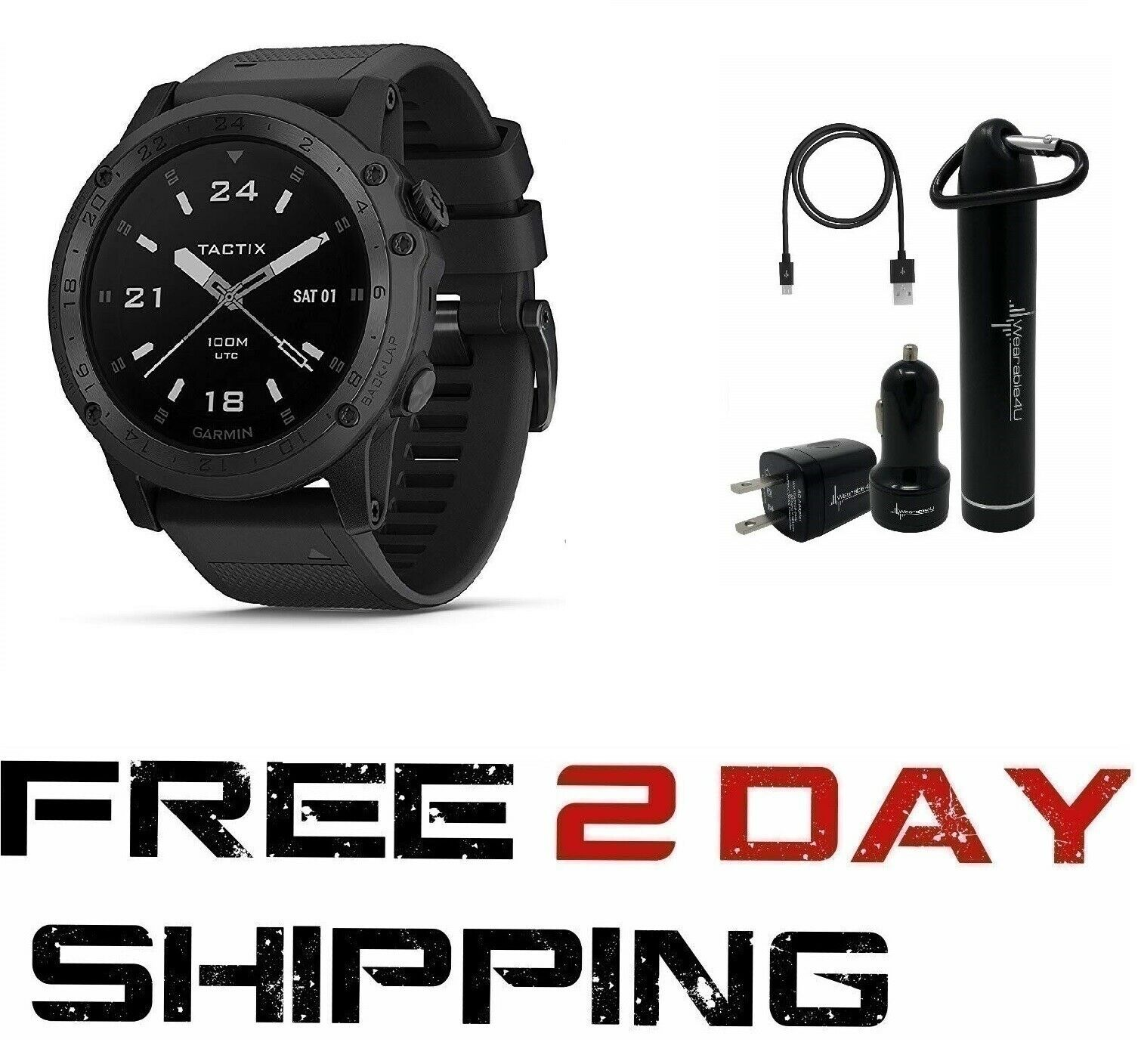 Garmin Tactix Charlie Premium Tactical GPS Watch with TOPO M