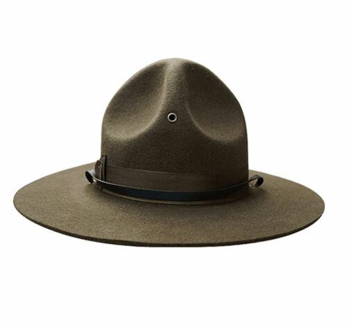 US Marine Corps wide brimmed hat USMC Instructor Wool Cap Hat Size XL
