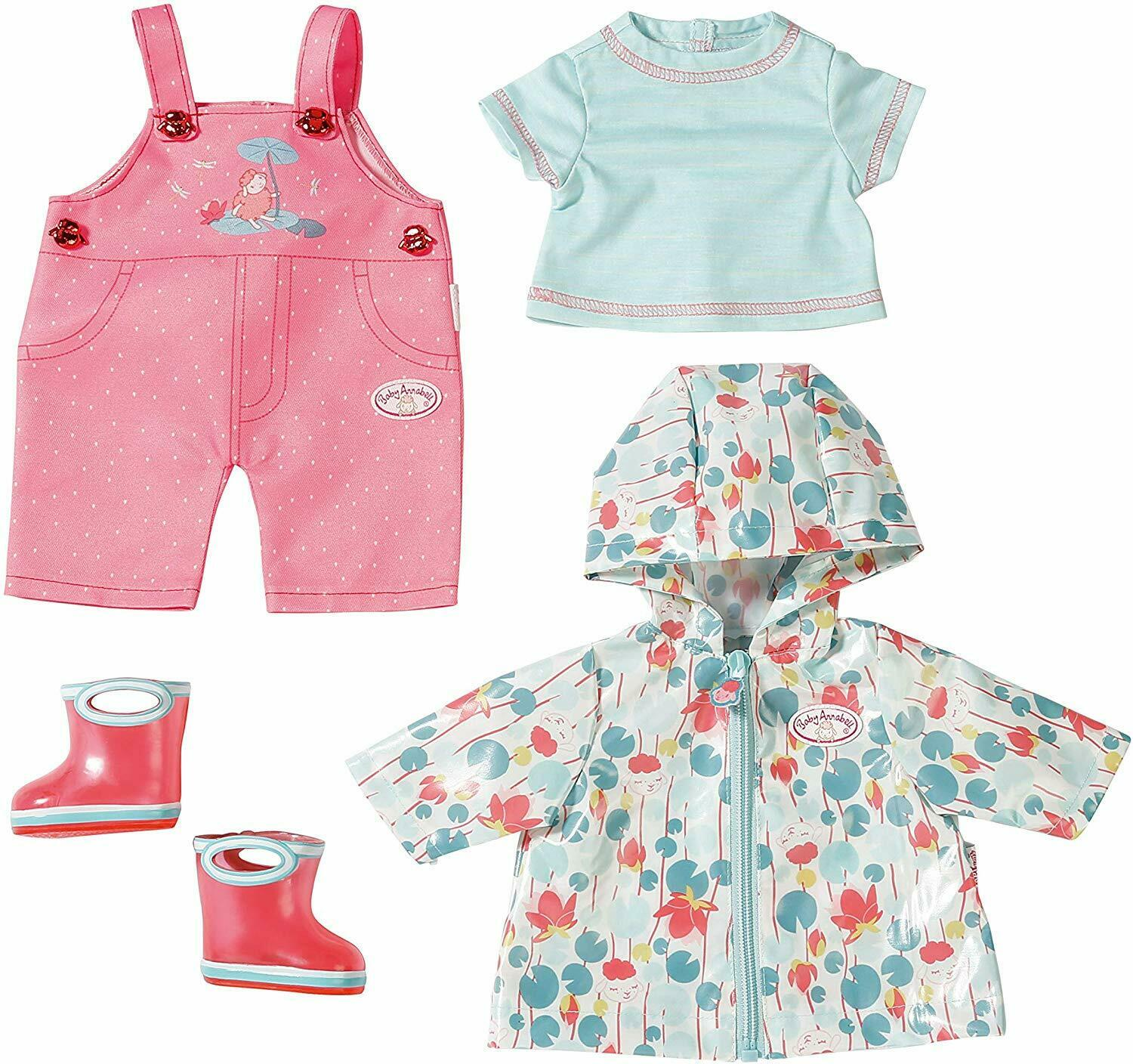 Baby Annabell Deluxe Rain Outfit Set For 43cm Dolls Zapf ...