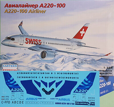 Used, Eastern Express 1/144 AIRBUS A220-100 SWISS / DELTA /+DEMO EE144133 for sale  Shipping to Canada