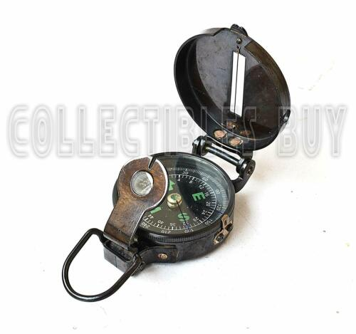 Lensatic compass black military compasses vintage antique navigational marine