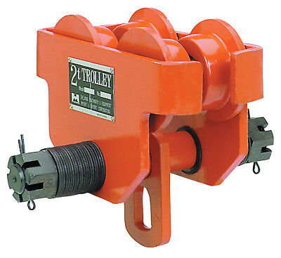 2 Ton Steel I-beam Push Beam Track Roller Trolley Free Priority Shipping