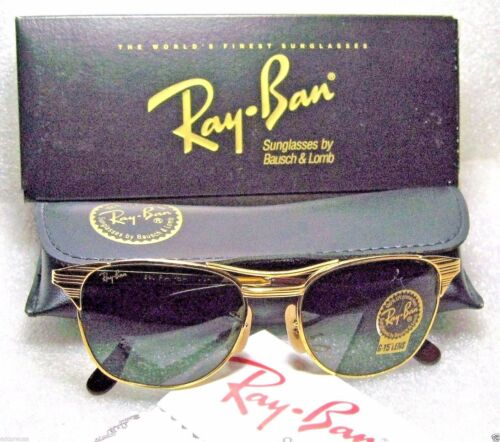 Ray-Ban USA NOS Vintage 90s B&L Signet Classic Metals W0386 NewInBox Sunglasses