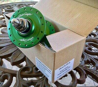 New Quando KT-DP6F Track Front Hub 14G 32H Anodized Silver