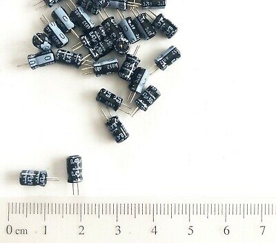 200 Pcs 0.47uf 50v Nichicon Miniature Electrolytic Capacitors 4x7mm