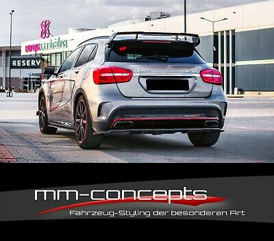 CUP Diffusor Ansatz SCHWARZ für Mercedes GLA 45 AMG X156 Heckschürze Heck MIT vB