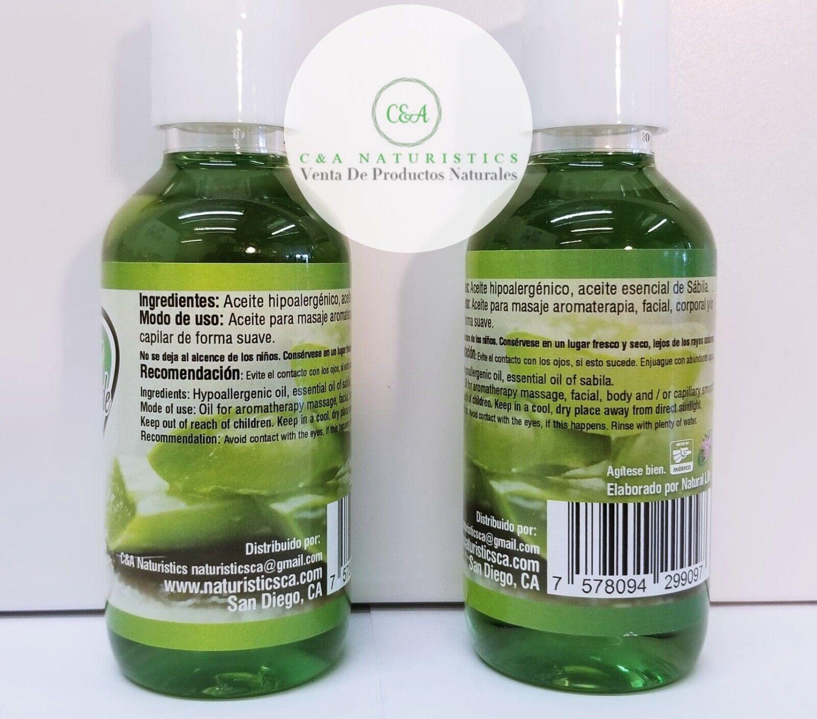 Aceite Organico de Sabila 100% Original & Concentrado (2 Pack 125ml Each) 1