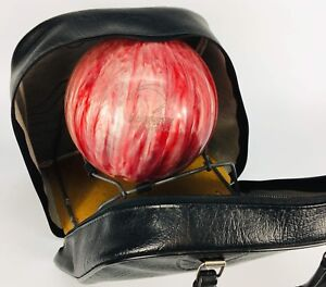 Vintage bowling ball Brunswick bag ebonite Excellent condition
