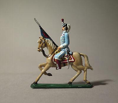 6987:RITTER Zinnfigur,3. Husaren-Rgt. Frankreich, 1809,bemalt,aus Sammlung.