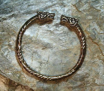 Bracelet  BRONZE Bangle Viking Medieval Celtic Germanic Wolf