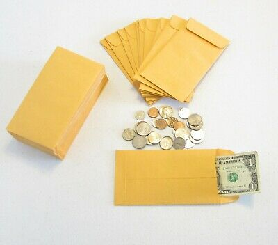 18 Kraft Coin Change Envelopes Jewelry Small Parts Envelope 7 Size 3.5 X 6.5
