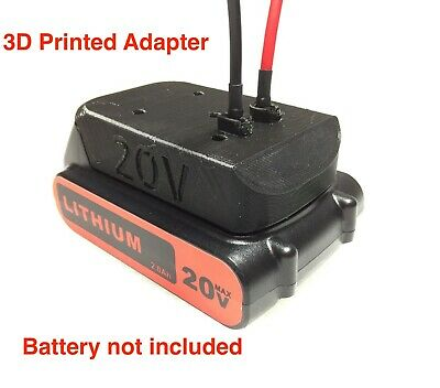 right angle battery adapter for black decker 20v 12 gauge wire power connector - Decker Adaptor