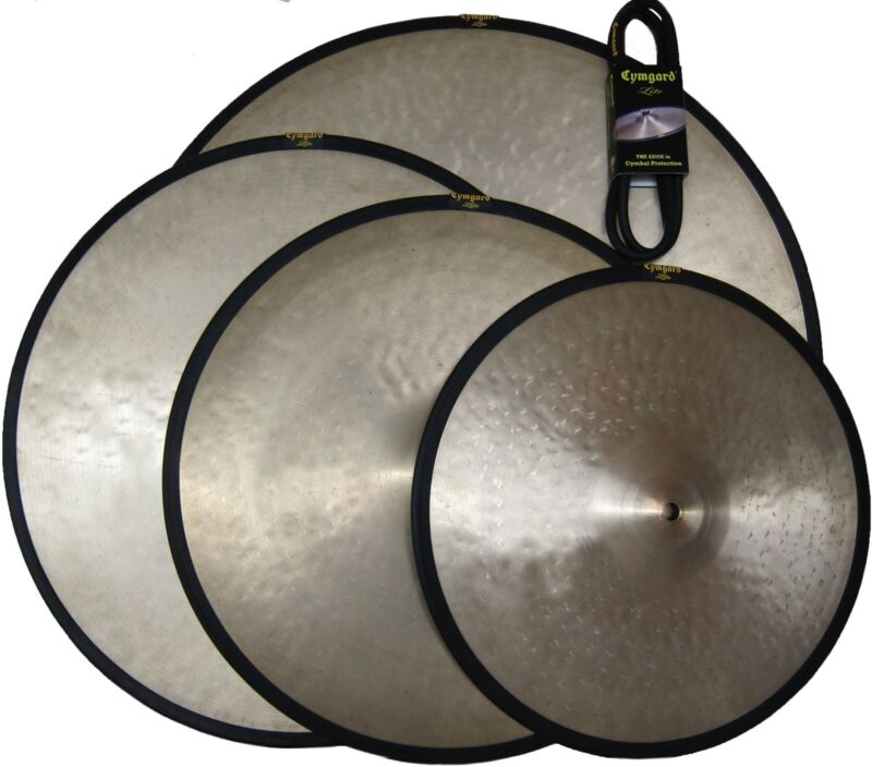 """Cymbal Mute: Cymgard Lites 4-Pack 14, 16, 18 and 20-inch """"Evens"""" Blk & Yel (GSP)"""
