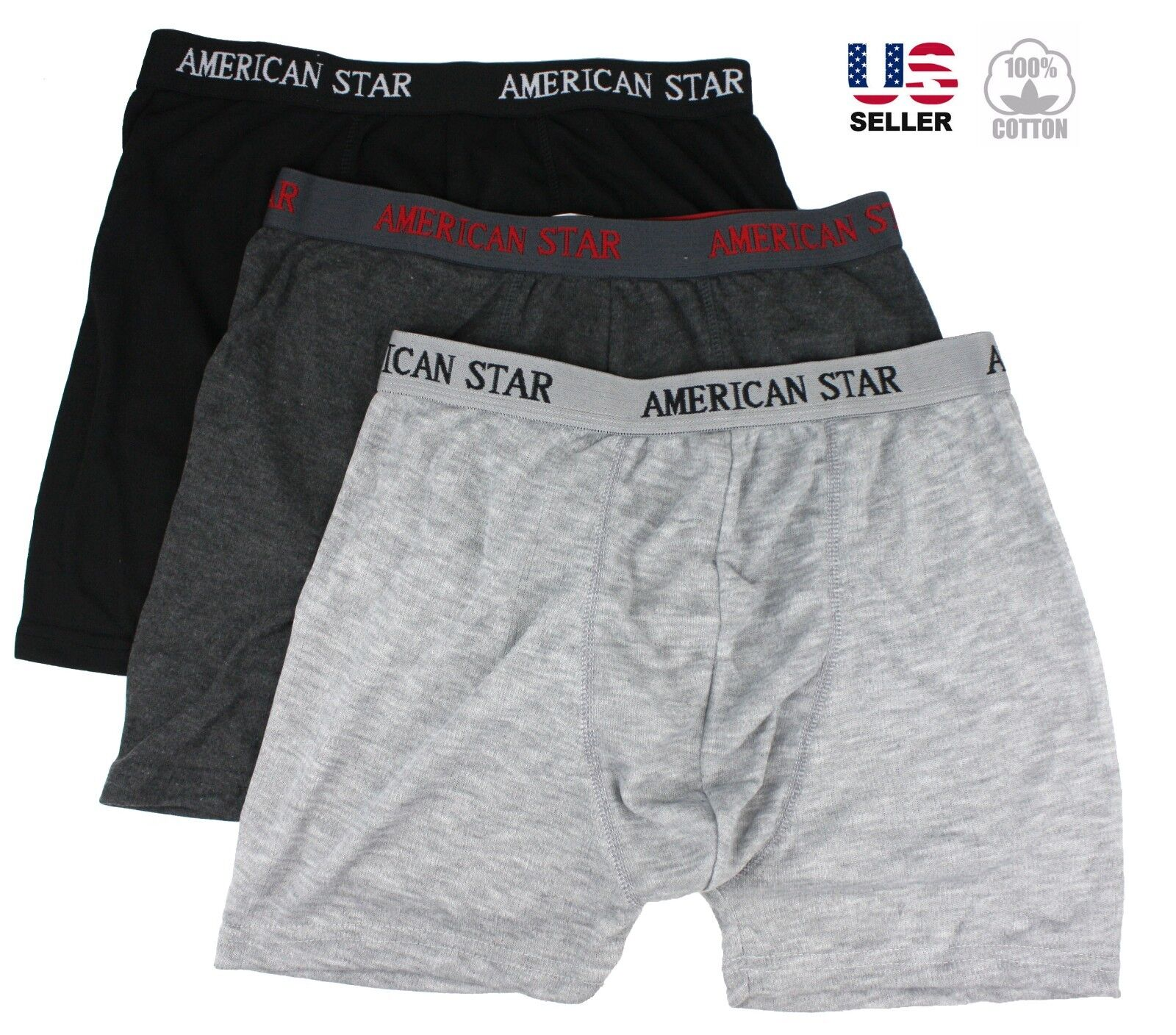 Lots of 3-6 Mens Boxer Briefs Trunks Shorts Underwear Cotton