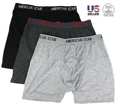 Lot 3-6 Pack Mens Boxer Briefs Trunks Shorts Underwear 100% Cotton Bulge Pouch 6 Pack Briefs