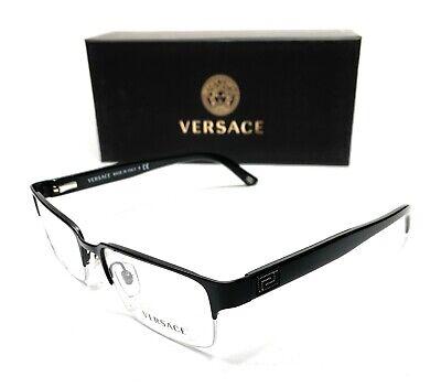 Versace VE1184 1261 Matte Black Men's Rectangular Eyeglasses Frame 53-18