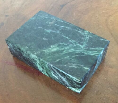 Green Marble Stone Rectangular Display Stand or Base Paperweight