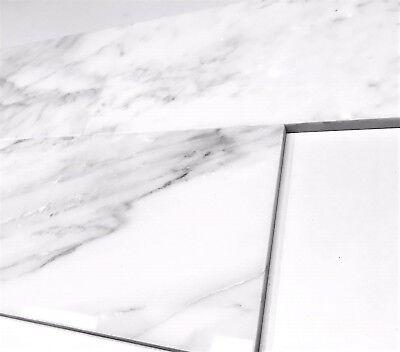Carrara White 6x12 Polished Straight Edge Marble Tile Wall Backsplash Kitchen