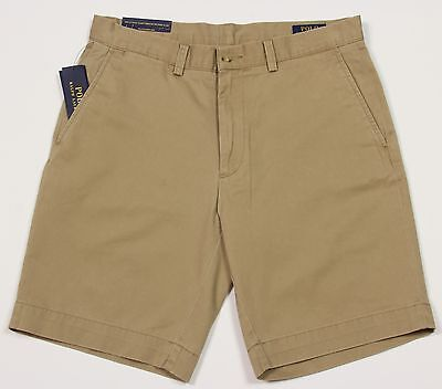 "Men's POLO RALPH LAUREN Khaki Tan Chino Shorts 32 NWT NEW Classic Fit 9"" -2010"