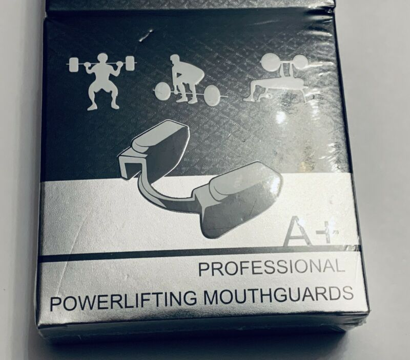 NEW 2 pack A+ PROFESSIONAL Powerlifting MOUTHGUARD for WEIGHTLIFTING  Black.