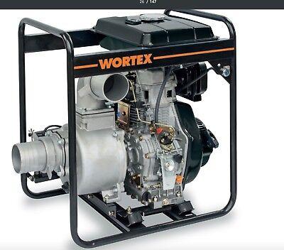 Power Pump Diesel WORTEX Hw 100 And With Engine Hailin 9,6 HP Pipe 1600 L/M
