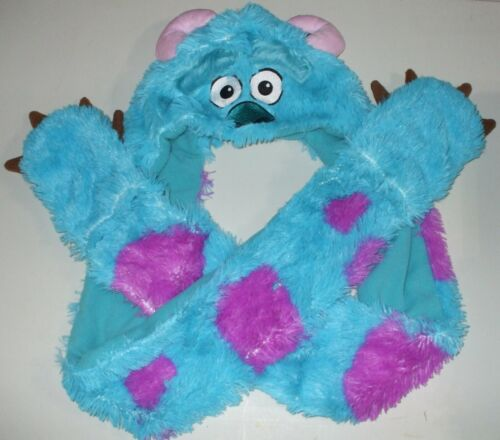 Disney Pixar Licensed Monsters Inc. Sully Hat with attached Scarf and Mittens
