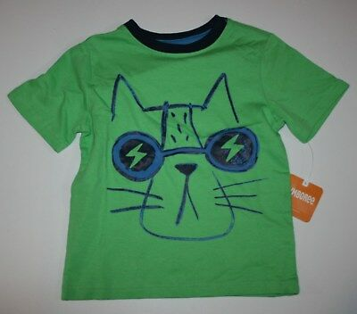 Neu Gymboree Top Everyday Anzug Cool Cat Graphictee Neu 2T 3T 4T Jungen ()
