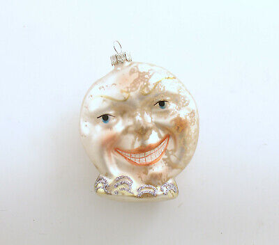 Glass Christmas Ornament Man in (Moon Glass Ornament)