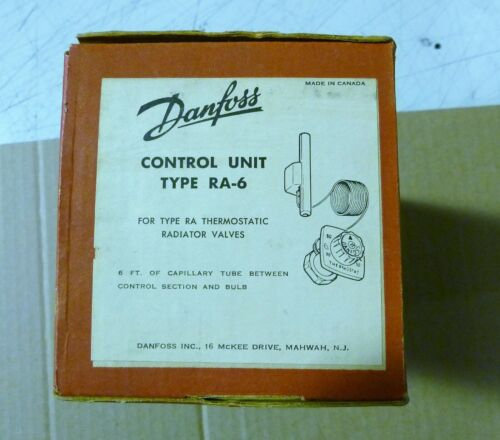 DANFOSS THERMOSTATIC RADIATOR VALVE CONTROL UNIT TYPE RA-6