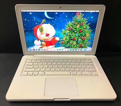 "FAST Apple MacBook White Unibody 13"" Laptop Latest 2017 OS + OFFICE 11 + SAVE $"