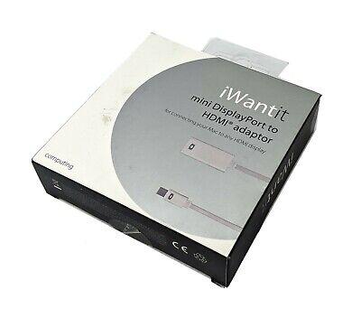 iWantit Mini Displayport Mini Dp A HDMI Vídeo Adaptador Convertidor