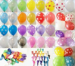 10-25-50-x-12-HELIUM-QUALITY-PEARLISED-LATEX-BALLOONS-OR-POLKA-DOT-BALLOONS