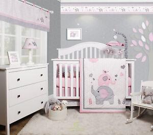 Harriet Bee Cheatwood Elephant Baby Nursery 6 Piece Crib Bedding Set