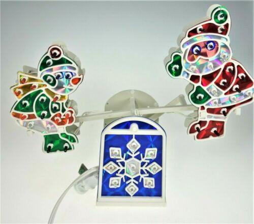 Lighted Seesaw Santa Elf Indoor Christmas Decoration Figurine Animated Moving