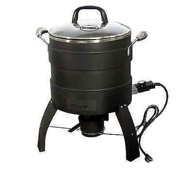 Butterball Oil-Free Outdoor Electric 18 lb. Turkey Roaster Deep Fryer in Black