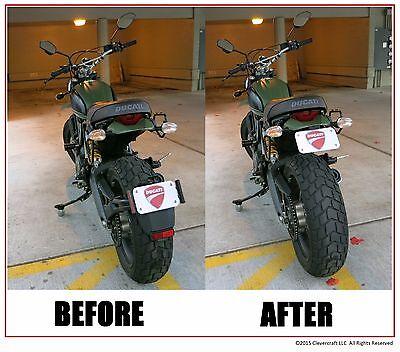 Ducati Scrambler Icon / Urban Enduro License Plate Relocator Tail Tidy