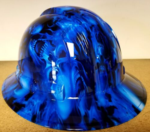 Hard Hat FULL BRIM custom hydro dipped , OSHA approved ICE SKULL LIMITED EDITION 3
