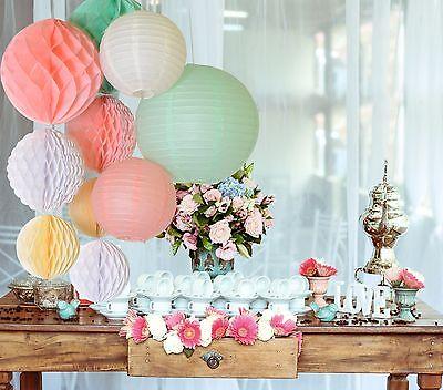 10 pcs Paper lantern  Paper honeycomb flower Wedding Birthday Party Decorations ](Honeycomb Wedding Decorations)