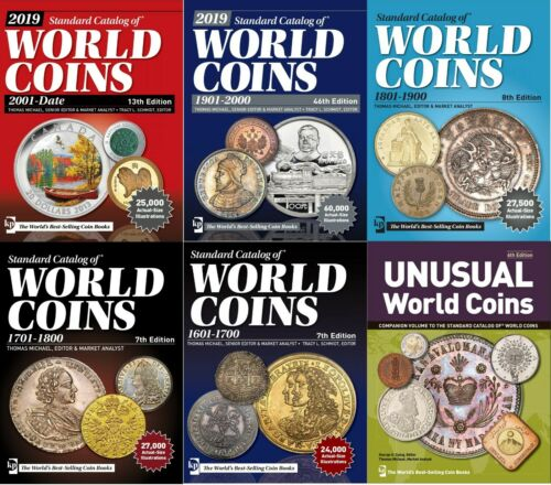 Little price. 2019 World Coins 1601-Date. Set of 6 Standard Catalogs PDF