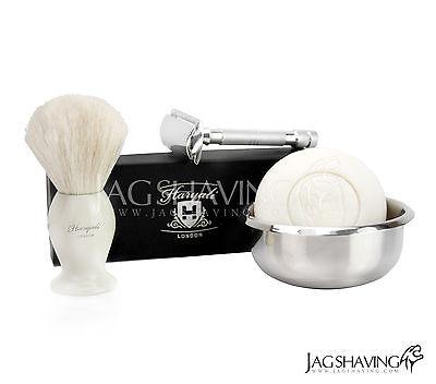 DE Safety Razor Shaving Set Badger Hair Brush Best Gift 4 HIM (Best Safety Razor Set)