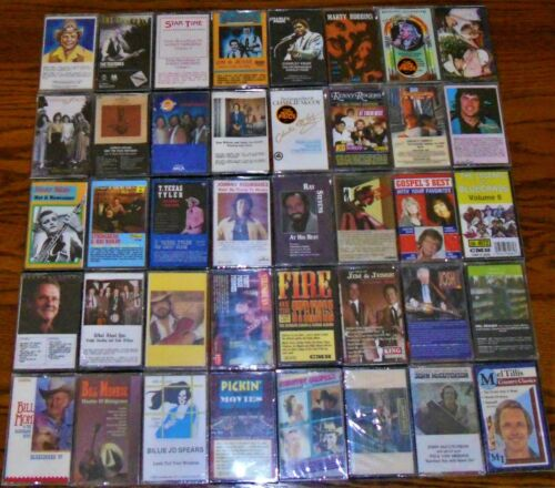 CLASSIC COUNTRY Lot of 40 SEALED cassettes NOS