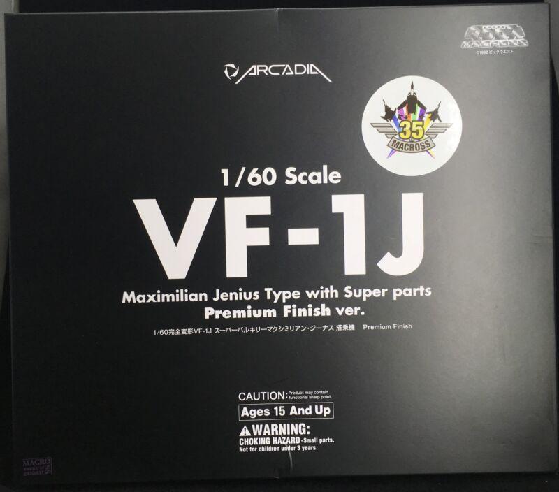 Macross: 1/60 VF-1J Super Valkyrie Maximilian Jenius- PREMIUM FINISH EDITION...