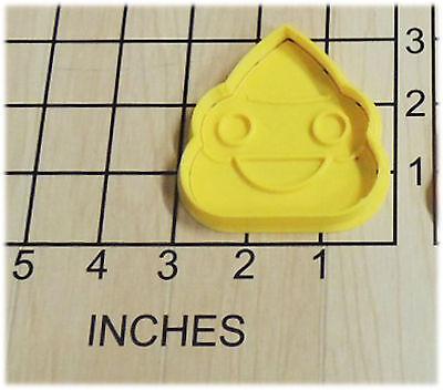 Emoji Smiling Turd Poop shape Cookie Cutter and Stamp #1108 (Smiling Poop Emoji)