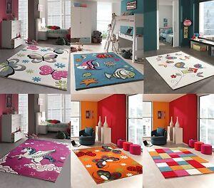 kinder teppich kinderzimmer spielteppich bunte variante kurzflor 3d exklusiv ebay. Black Bedroom Furniture Sets. Home Design Ideas