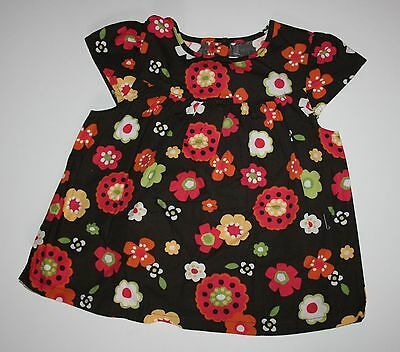 New Gymboree Pretty Brown Floral Print Top Size 3T NWT Fall for Autumn Line ()