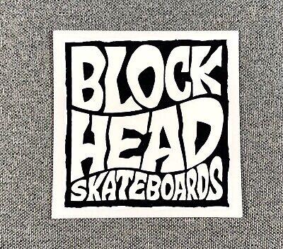 Blockhead skateboard logo sticker reissue vinyl SK8 Omar Hassan genie carpet fly