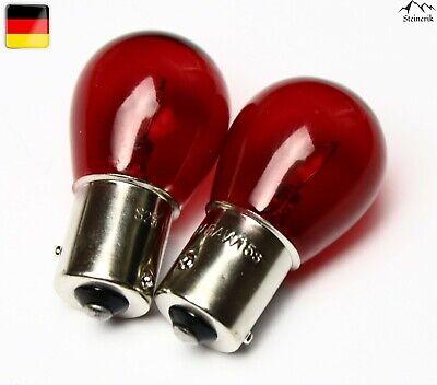 2x PR21W 12V BA15s Rot Halogen Lampe E-geprüft gebraucht kaufen  Frankfurt