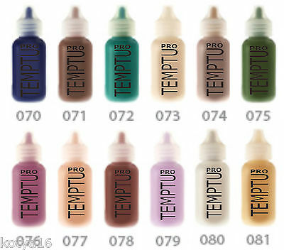 TEMPTU PRO Face Body Silicon Based Airbrush Makeup Halloween Party Character 1OZ - Halloween Airbrush Makeup